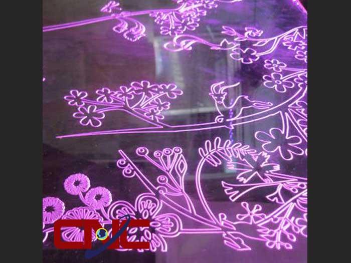 Khắc Cắt CNC Tranh Mica Hiệu Ứng LED