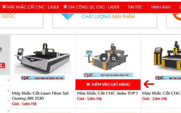 Chọn mua hàng trực tuyến thông qua giỏ hàng của website