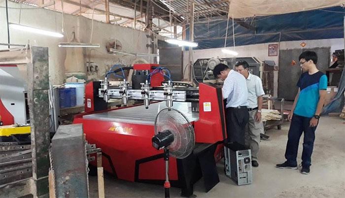 Máy CNC Jieke 1325X4 được lắp đặt tại Công Ty Chế Biến Lâm Sản TP HCM
